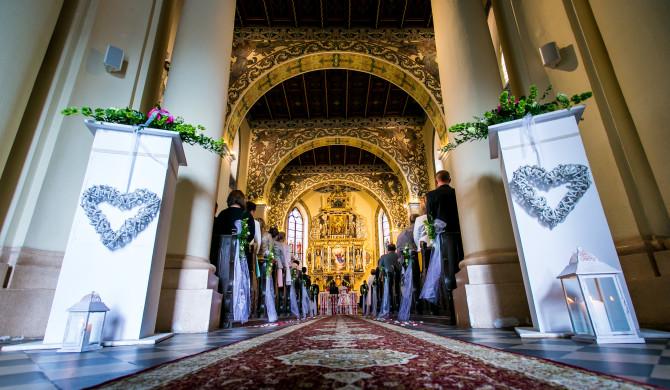 Weselna dekoracja kościoła
