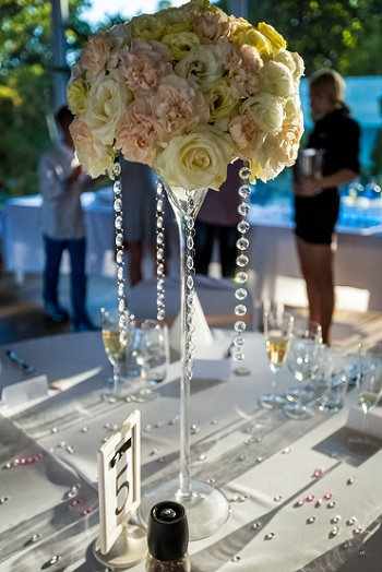 krysztaly dekoracje weselne