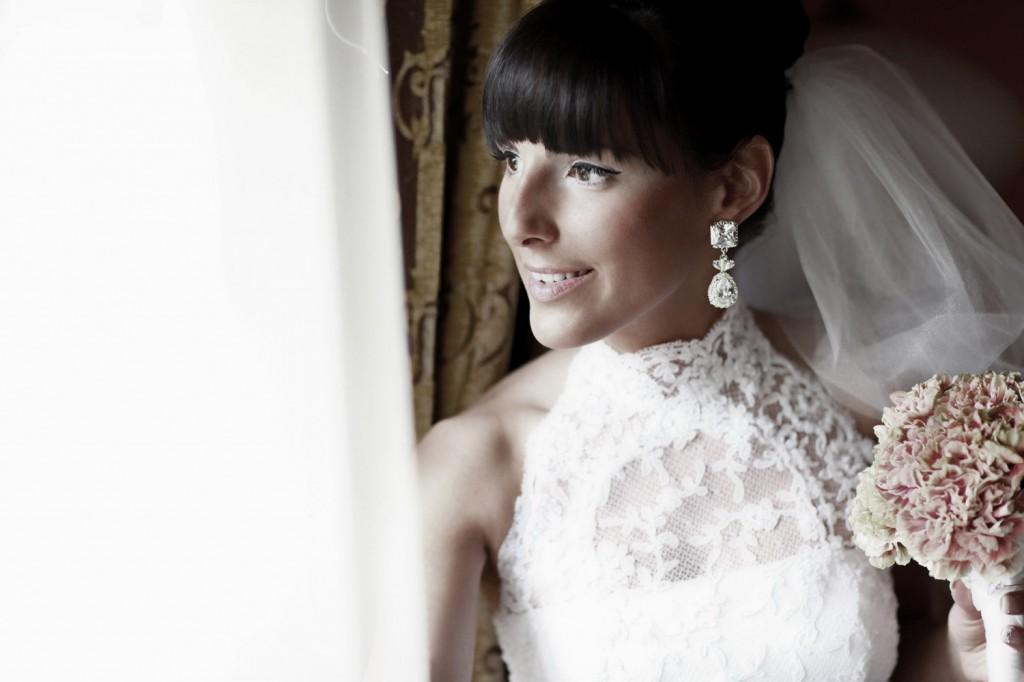 Panna Młoda na ślubnej fotografii